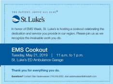 EMS Cookout Invitation